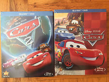 Cars 1-2 (Blu-Ray / DVD) Disney Pixar Bundle Free Shipping