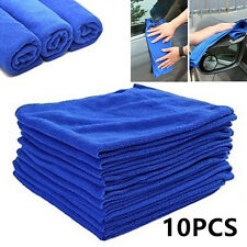 10 Pcs Large Microfibre Cleaner Auto Car Detailing Soft Cloths Wash Towel Duster