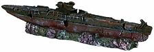 Submarine Wreck Aquarium Ornament Fish Tank Shipwreck Boat Decoration