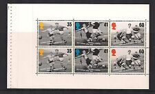 1996 GB QEII EX DX18 PRESTIGE BOOKLET PANE EUROPEAN FOOTBALL SG Y1927A MNH