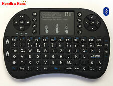 Rii i8+ Mini Bluetooth Funk Tastatur Touchpad Wireless Keyboard Backlit DE-Layou