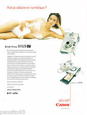 PUBLICITE ADVERTISING 065  2002  CANON   appareil photo  DIGITAL IXUS V2
