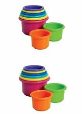 The First Years Stacking Up Cups - 2 Sets     *NEW*