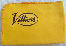 VILLIERS MOTORCYCLE: NEW LARGE HIGH QUALITY CLEANING DUSTER CLOTH WITH LOGO.