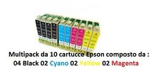 10 CARTUCCE X STAMPANTE EPSON STYLUS OFFICE BX310FN BX610FW S20 S21 SX100 SX110