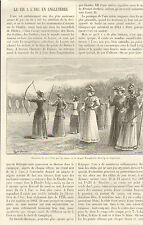 ENGLAND TIR A L' ARC BOW SHOOTING ARTICLE DE PRESSE PAR DANIEL BELLET 1894