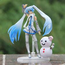 Anime Figma Vocaloid Hatsune Miku Snow Miku Yuki Miku Action Figure 10cm