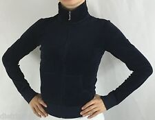 Juicy Couture Track Jacket Velour Long Sleeve Zip Up Peck Navy Blue Size Small
