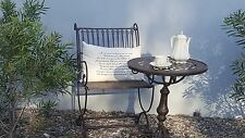 FRENCH garden set antique 2 x brown CHAIRS + TABLE  QUALITY NEW