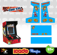Icade Donkey Kong Full Set Graphics Sticker / Sides Marquee & Panels
