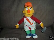 SESAME STREET CARPENTER BERT PLUSH DOLL FIGURE CHARACTER TOY