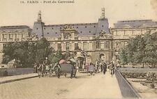 CARTE POSTALE PARIS PONT DU CARROUSEL