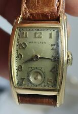 VINTAGE HAMILTON 10KT GF MENS WATCH CIRCA 1930S WORKS
