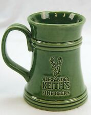 Alexander Keith's Fine Beers, Stag Beer Mug, Stein, Cup 16oz. Moss Green