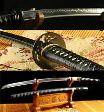 "41""DAMACUS FOLDED STEEL CLAY TEMPERED BLADE JAPANESE SAMURAI SWORD KATANA SHARP"