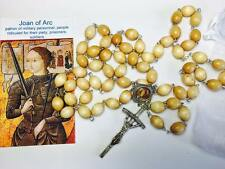 St Joan of Arc wooden relic rosary patron prisoners soldiers military personnel