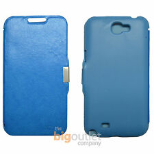 Funda Azul claro Libro Tapa Flip Cover Iman for Samsung Galaxy Note 2 N7100