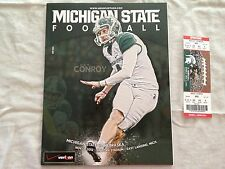 Nebraska Huskers Michigan St Spartans Football Program & Ticket Stub Nov 3, 2012
