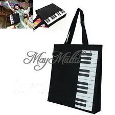 New Hot Fashion Black Piano Keys Music Handbag Tote Bag Shopping Bag Handbag Z タ