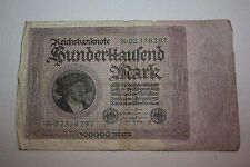 Reichsbanknote 100000 Mark 1. Februar 1923