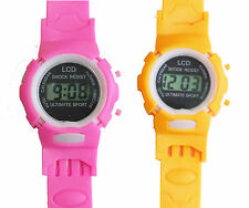 2Pcs Kids Sports Digital Wrist Watch Clock Children Watch Gift Child Boy Girl