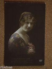 Vintage Postcard: Birthday Greetings, Glamour Lady, Ettlinger's, Handcoloured