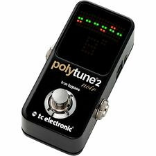 TC Electronics Polytune 2 Noir Tuner for Guitar NEW FREE SHIPPING