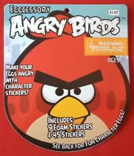 Angry Birds Eggcessory package character stickers 9 foam stickers & 45 stickers