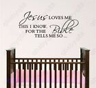 Jesus loves me Wall Quote decals Removable stickers decor Vinyl art kids nursery