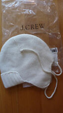 J CREW FACTORY TRAPPER HAT WOOL BLEND ONE SIZE WARM IVORY NWT