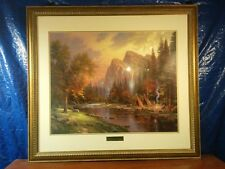 """Thomas Kinkade Giclee """"The Mountains Declare his Glory"""" Framed Double Signed"""