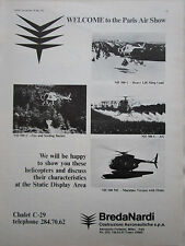5/1975 PUB BREDA NARDI HELICOPTER NH-300C AG NH-500C FIRE HEAVY LIFT ORIGINAL AD