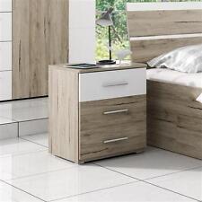 nachttische nachtkonsolen aus mdf spanplatte holzoptik f r 3 schubladen ebay. Black Bedroom Furniture Sets. Home Design Ideas
