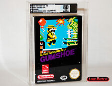 Gumshoe Italia Sticker Seal Nintendo NES Brand New Sealed VGA Q80 Grade SNES