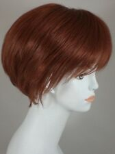 Fox Red Auburn Short Straight Bob Style Wig w/Bangs