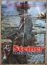 Vintage Original PECKINAH - CROSS OF IRON Movie Poster WW2 1980 German 1sh