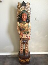 4 FT J. Gallagher Carved Wood Cigar Store Indian Statue- Free Delivery!!!