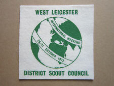 West Leicester International Weekend Felt Cloth Patch Badge Boy Scouts Scouting