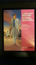 Archer Rare Original Emmy Nomination Promo Poster Ad Framed!