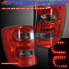 "99-04 JEEP GRAND CHEROKEE ""L.E.D."" TAIL LIGHTS LED RED SMOKE PLUG N PLAY PAIR"