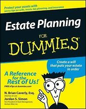 Estate Planning for Dummies by N. Brian Caverly and Jordan S. Simon (2003,...