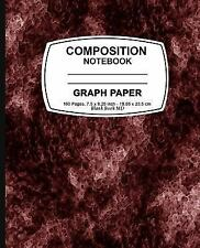 Graph Paper Notebook : Red Marble,Graph Paper Notebook, 7. 5 X 9. 25, 160...