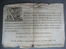 Amiens. Jean Louis Grebert Marie Marguerite Boutillier. Eglise St Jacques. 1817.