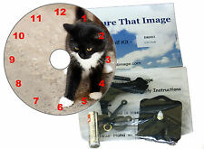 DIY CD Clock Kit , Kitten Cat