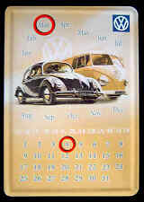 VW T1 Fenster Bus Samba BULLI Transporter Volkswagen Blechschild - Kalender 15cm