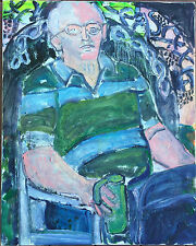 Fauvist Expressionist Male Portrait Unsigned Mystery Artist Unger Painting