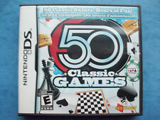 50 CLASSIC GAMES NINTENDO DS 2009 COMPLETE VERY GOOD TESTED ACTUAL PICTURE