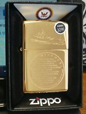 New Zippo USS Battle Ship Missouri WW2 Japan Surender BB63 254 High Polish Brass