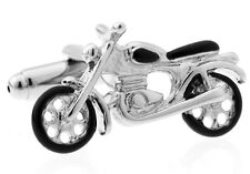 Motorcycle Cufflinks Vintage Wedding Fancy Gift Box Free Ship USA