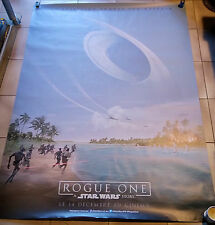 Rare affiche advance poster STAR WARS Rogue One 120x160 roulée rolled TBE 2016